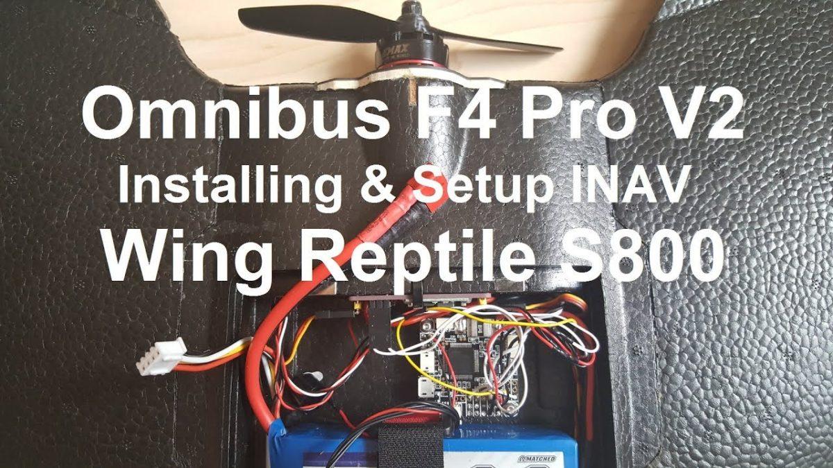 Рептилия / Reptile S800. Настройка Omnibus F4 Pro V2 под летающее крыло