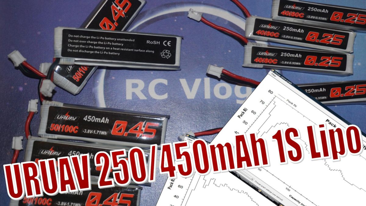 URUAV 250/450mAh 1S Lipo Battery