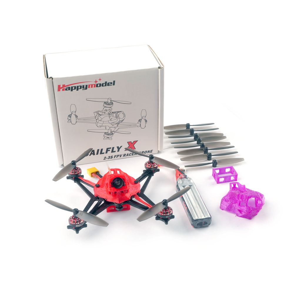 Happymodel Sailfly-X 105mm Crazybee F4 PRO 2-3S Micro FPV Racing Drone PNP BNF w/ 700TVL Camera