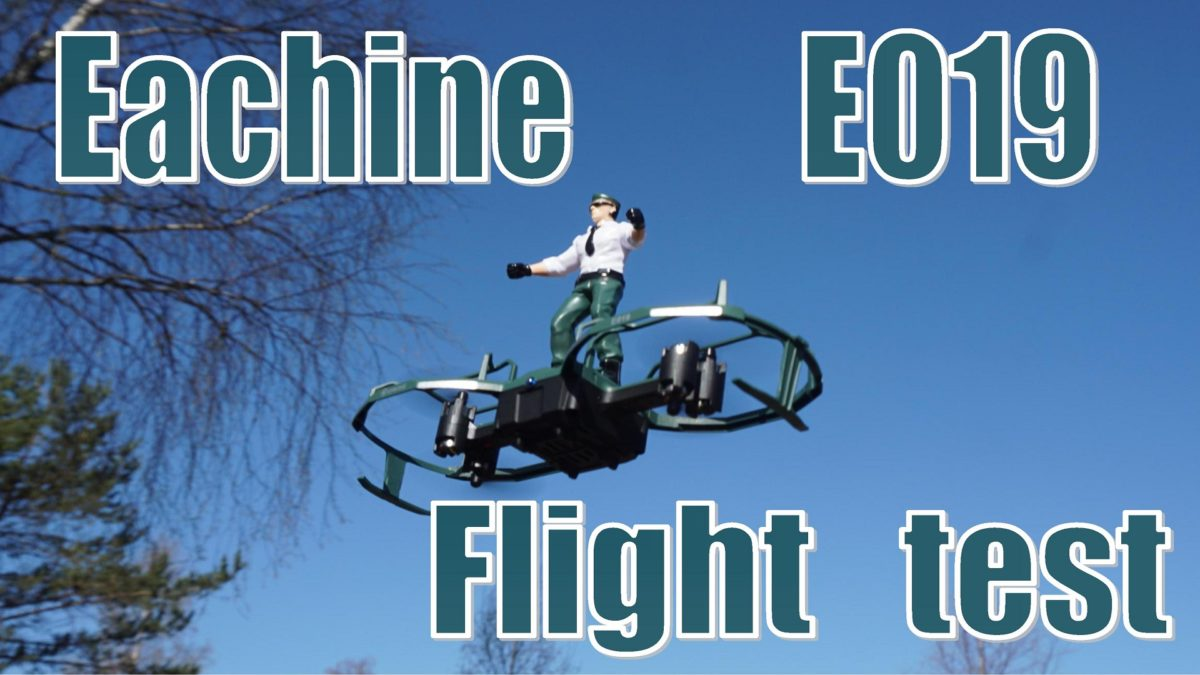 Eachine E019. Часть 2. Демонстрация полетных режимов парапланериста и трюкача