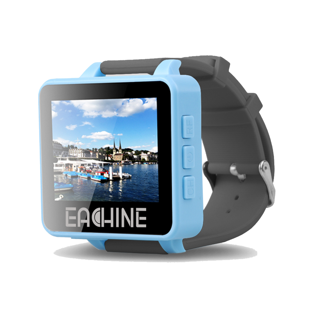 Eachine RD200 2″ 5.8GHz 48CH FPV Wearable Watch DVR RaceBand Monitor Receiver OSD Built-in Battery Support AV-In for FPV RC Drone Transmitter Mount