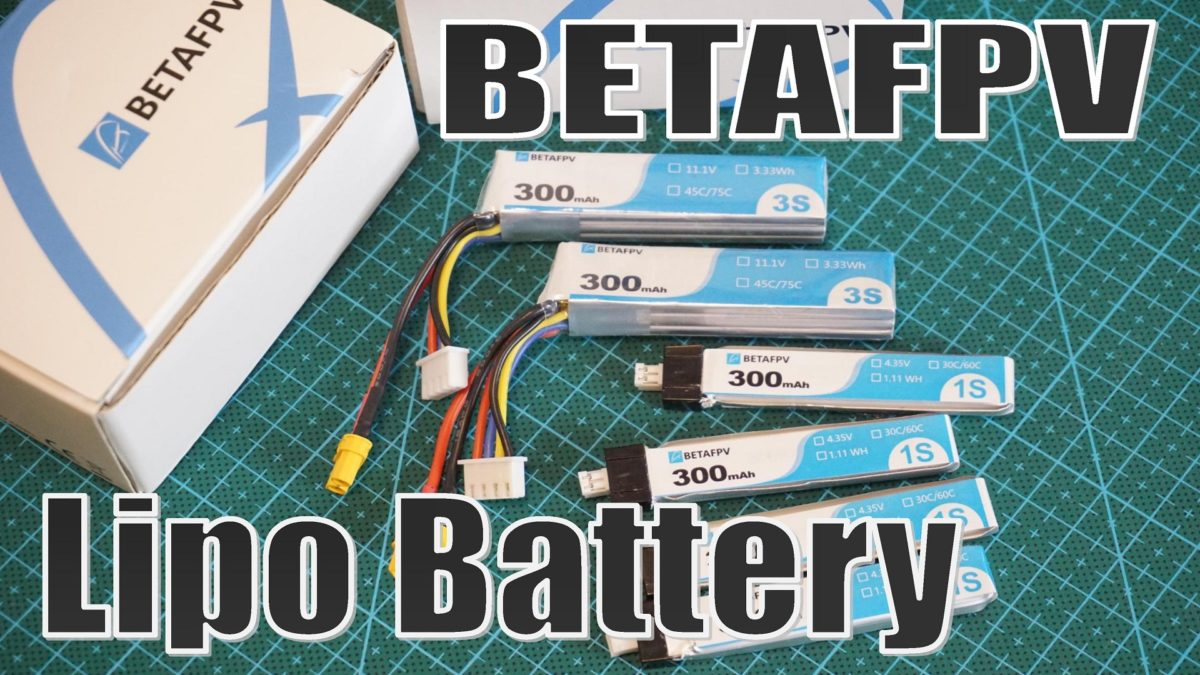 BETAFPV Lipo Battery 300mAh 1S 30C & 300mAh 3S 45C