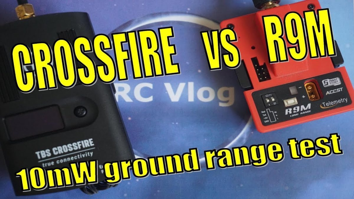 Crossfire & R9M. 10mW ground range test.