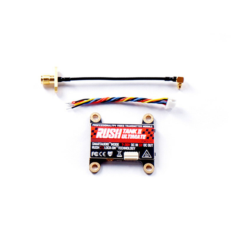 RUSH TANK II V2 Ultimate 5.8G 48CH Raceband PIT/25/200/500/800mW Switchable 2-8S VTX FPV Transmitter