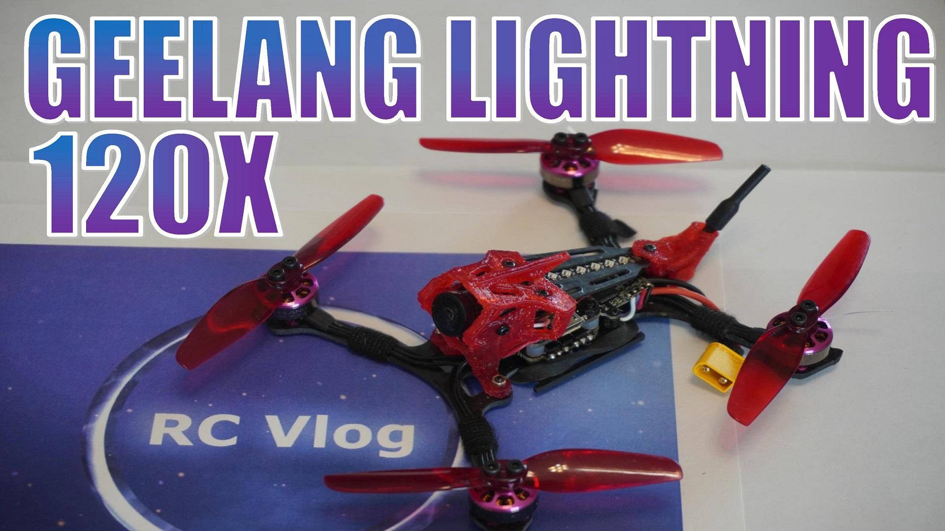 GEELANG Lightning 120X 120mm F4 12A 2-4S 3 Inch Whoop FPV Racing Drone PNP BNF w/ 25-200mW VTX Runcam Nano 2 Camera