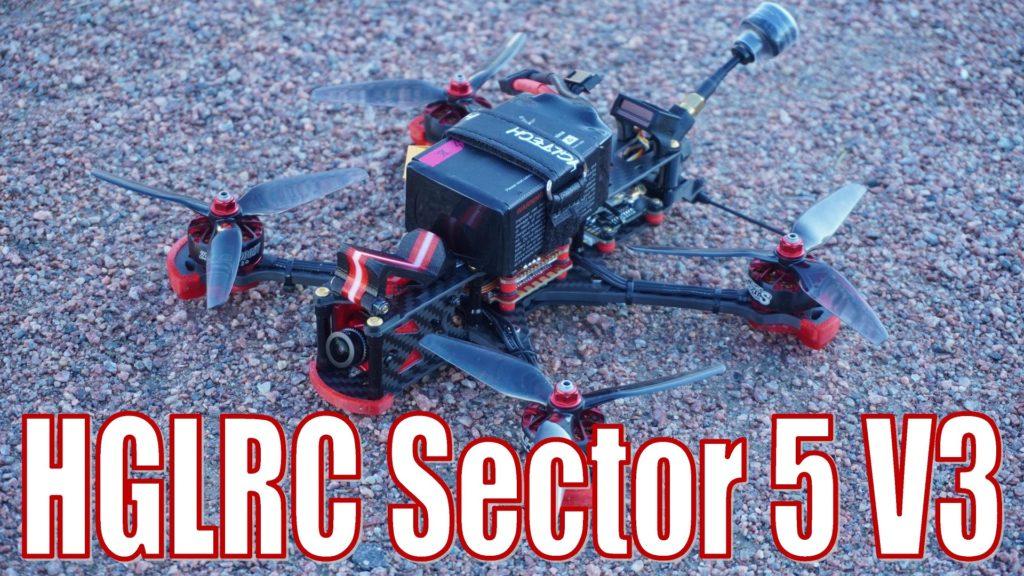 HGLRC Sector 5 V3 6S Freestyle FPV Racing Drone Caddx Ratel Version PNP/BNF Zeus F722 MT VTX 800MW 2306.5 1900KV Motor