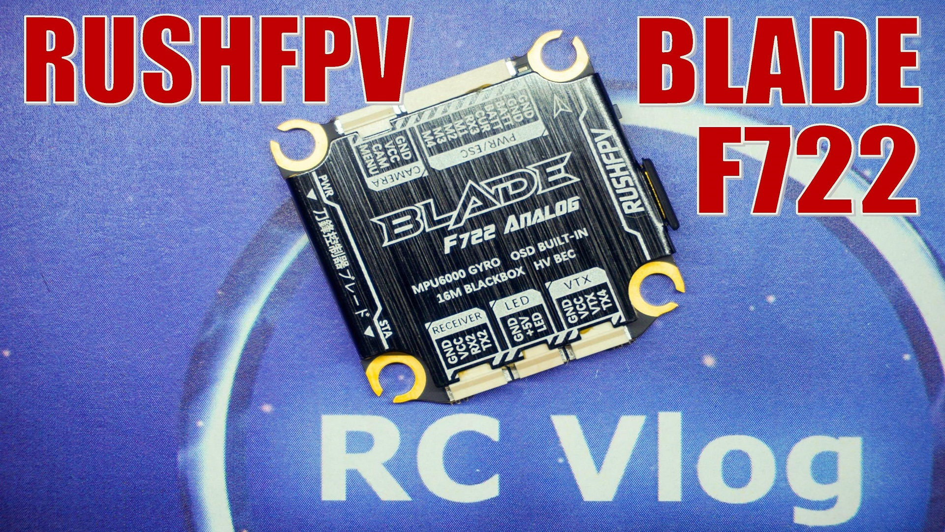 RUSHFPV RUSH BLADE F722 3-8S Flight Controller For Analog / HD DJI Digital FPV System